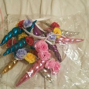🦄 unicorn,flower headbands 8 piece set